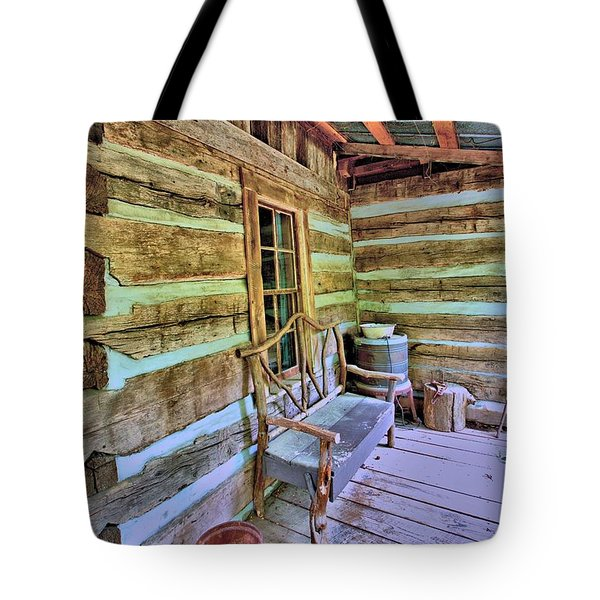 Colonial Front Porch Basics Tote Bag by Gordon Elwell
