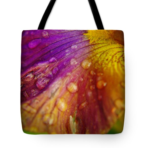 Color And Droplets Tote Bag by Jeff Swan