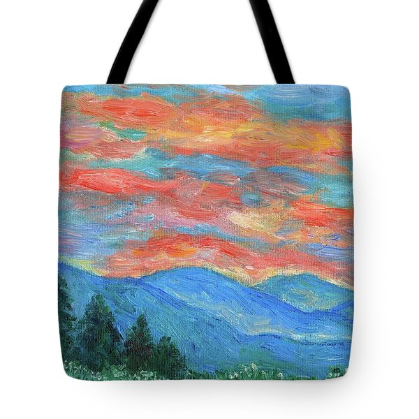 Color Blast Tote Bag by Kendall Kessler