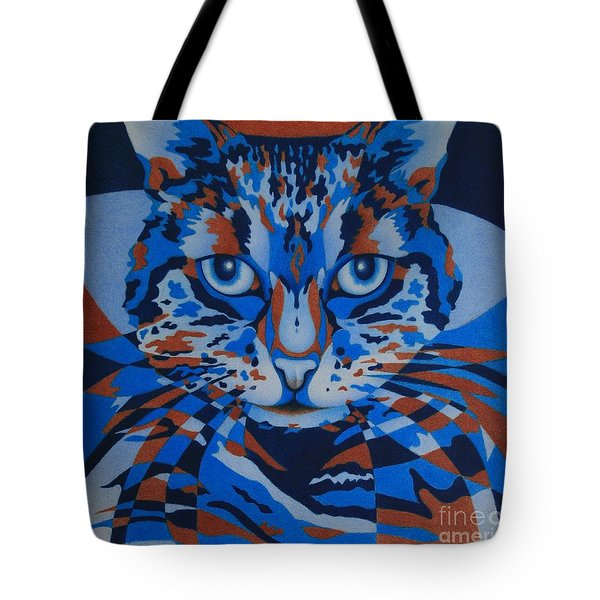 Color Cat IIi Tote Bag by Pamela Clements