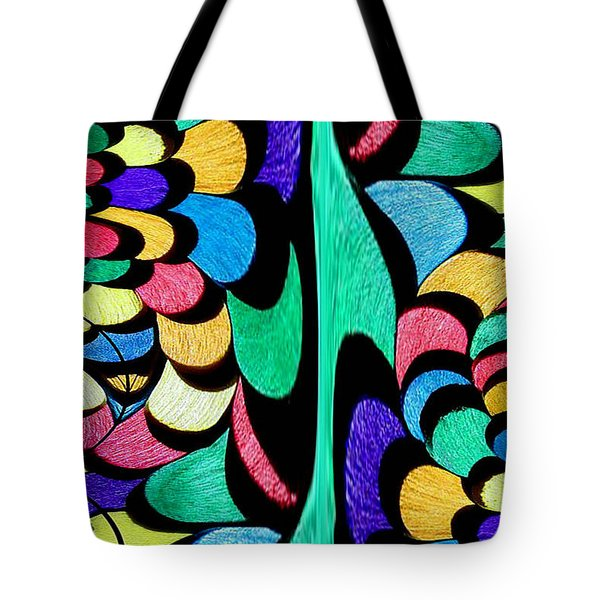 Tote Bag featuring the digital art Color Dance by Rafael Salazar