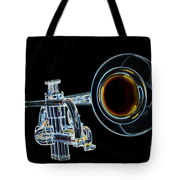 Color Drawing Of A Trumpet Bell Isolated 3018.05 Tote Bag