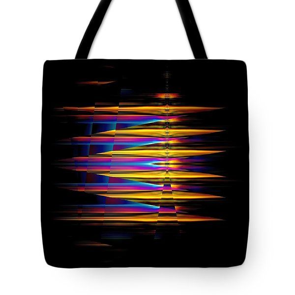 Tote Bag featuring the digital art Color Emphasis On Black by Maciek Froncisz