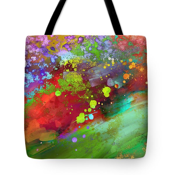 Color Explosion Abstract Art Tote Bag