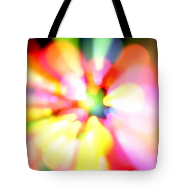 Color Explosion Tote Bag by Les Cunliffe