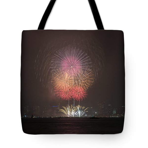 Tote Bag featuring the photograph Colored Skies by John Swartz