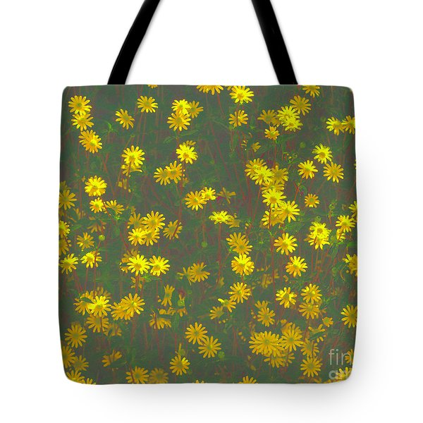 Color Flower Wall Tote Bag