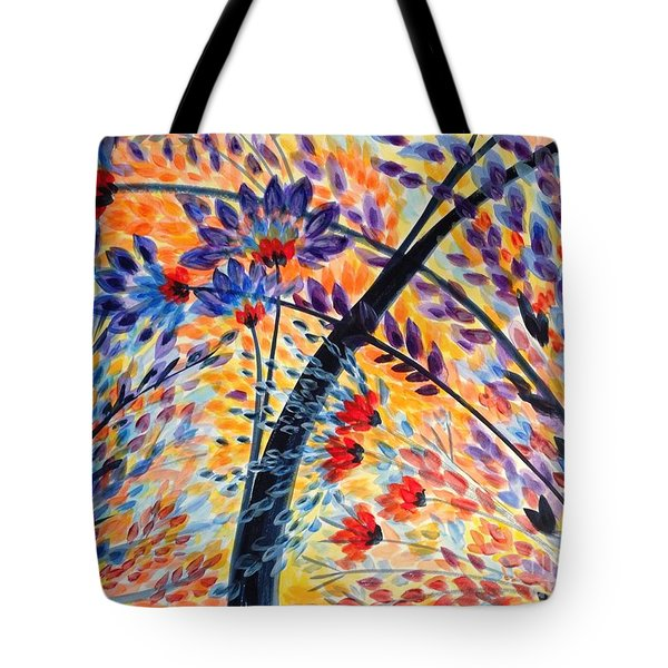 Color Flurry 3 Tote Bag by Holly Carmichael
