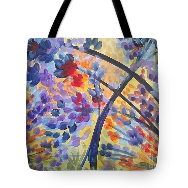 Color Flurry Tote Bag by Holly Carmichael