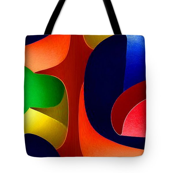Tote Bag featuring the digital art Color Maze by Rafael Salazar