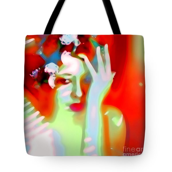Tote Bag featuring the photograph Color Me Blue by Jessica Shelton