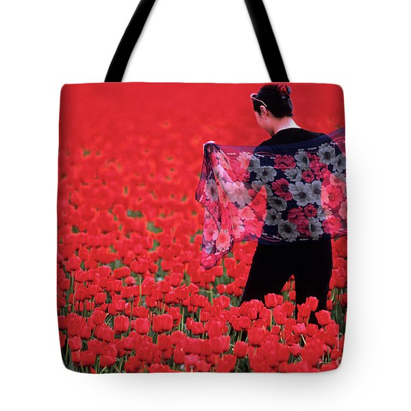 Color Me Tulip Tote Bag by Bob Christopher