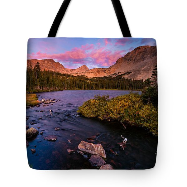 Color Over  Indian Peaks Tote Bag