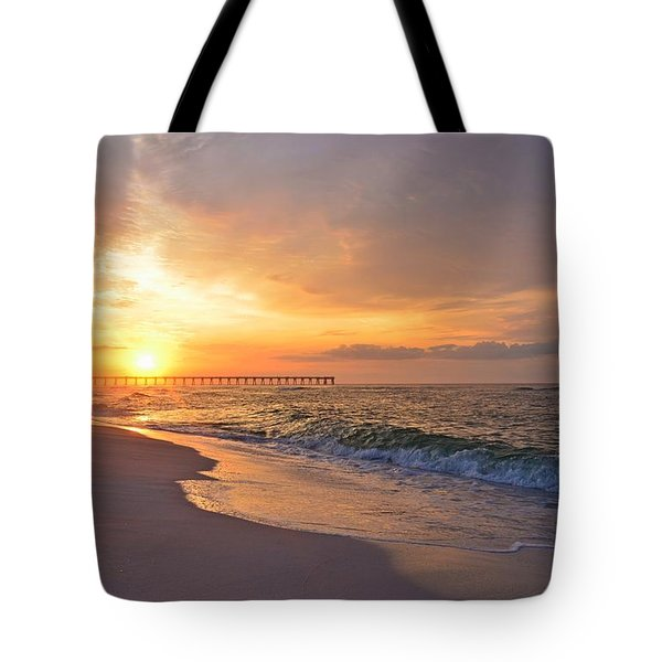 Color Palette Of God On The Beach Tote Bag by Jeff at JSJ Photography