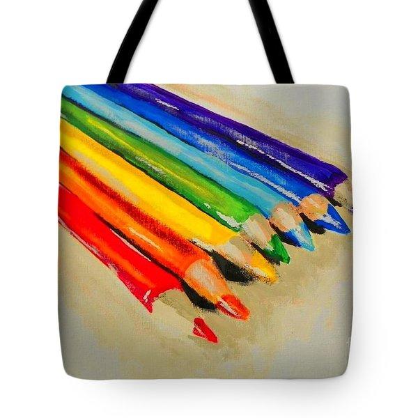 Color Pencils Tote Bag