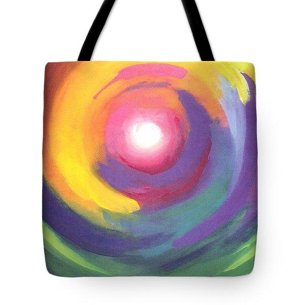 Color Spiral Tote Bag
