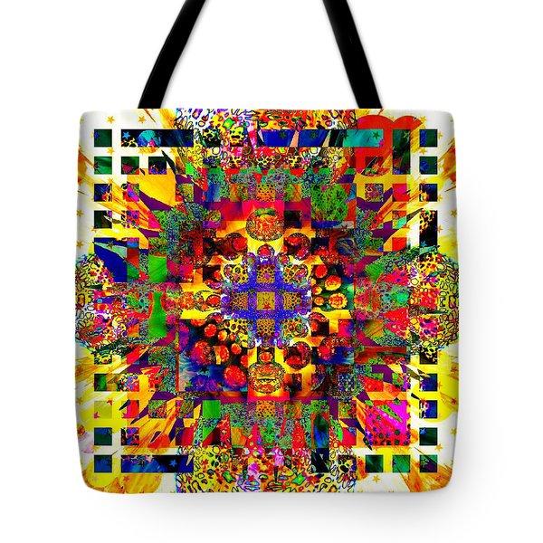Color Splash Squared Tote Bag