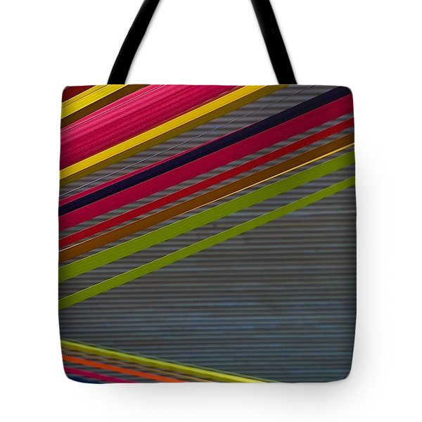 Tote Bag featuring the photograph Color Strips by Stuart Litoff