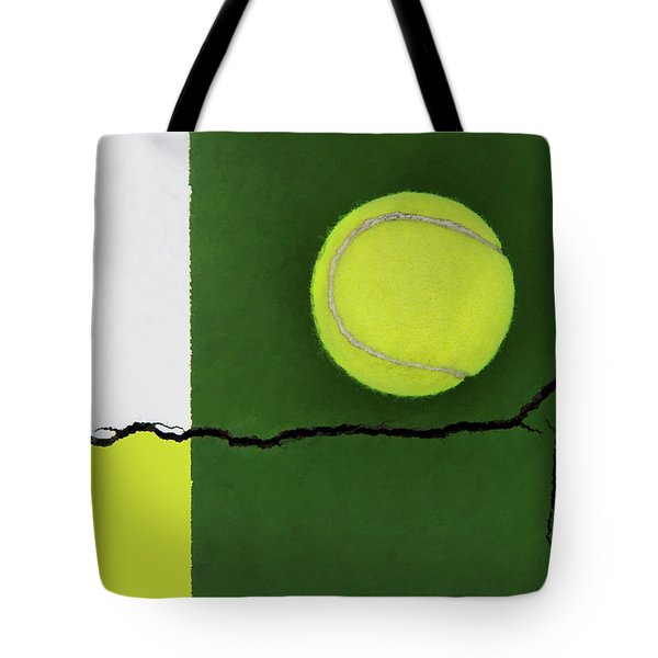 Color Transfer Across The Fault Line Tote Bag
