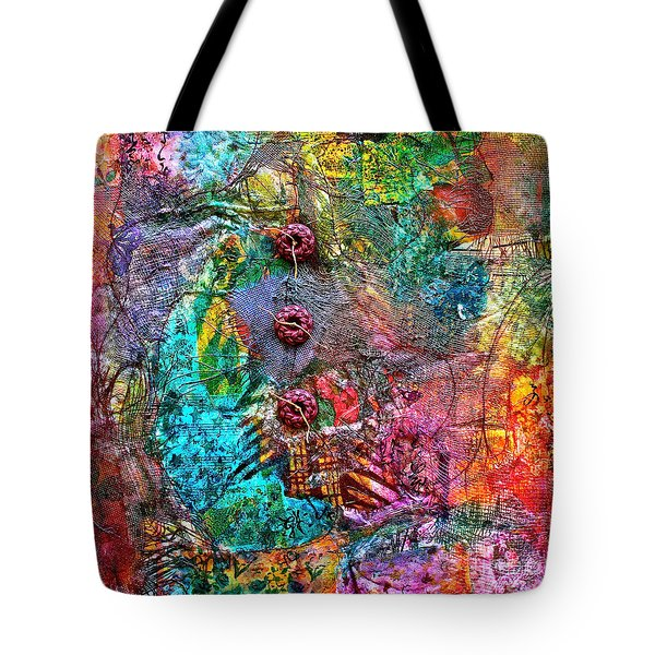 Color With Buttons Tote Bag