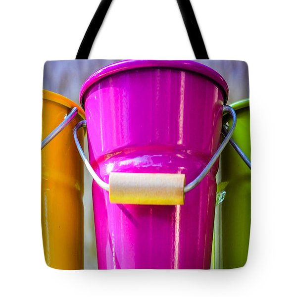 Tote Bag featuring the photograph Pots Trio by Dany Lison