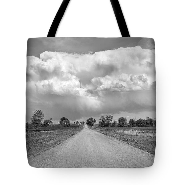 Colorado Country Road Stormin Bw Skies Tote Bag by James BO  Insogna