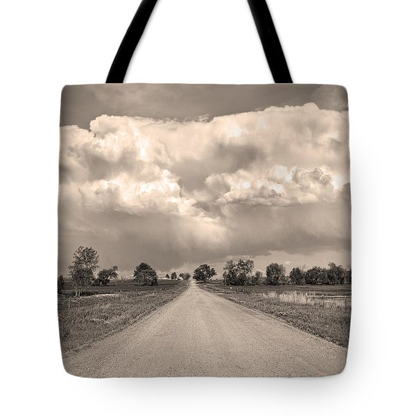 Colorado Country Road Stormin Sepia  Skies Tote Bag by James BO  Insogna