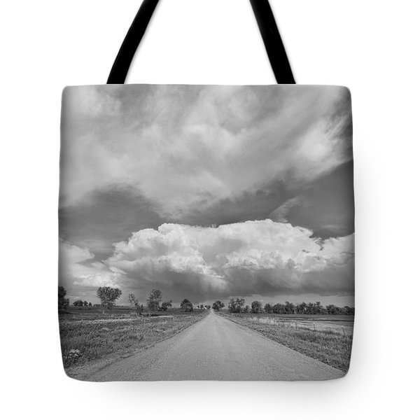 Colorado Country Road Stormin Skies Bw Tote Bag by James BO  Insogna