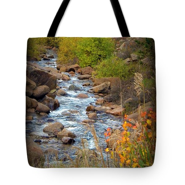 Colorado Fall Stream Tote Bag