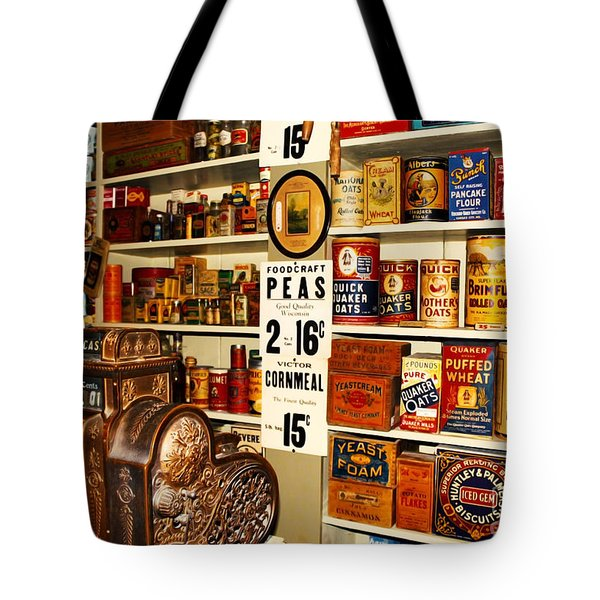 Colorado General Store Supplies Tote Bag by Janice Rae Pariza