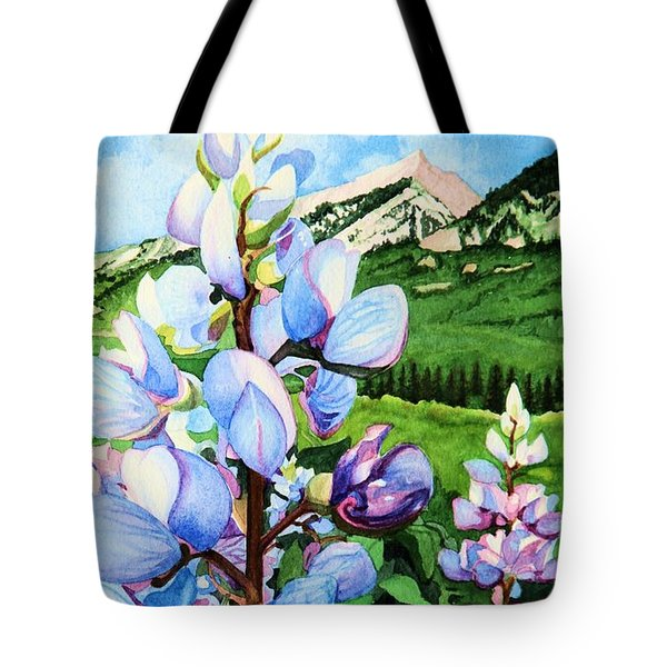 Colorado Summer Blues Close-up Tote Bag