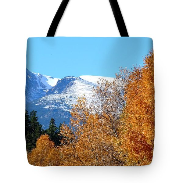 Colorado Mountains In Autumn Tote Bag