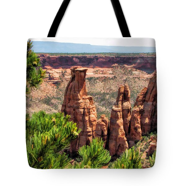 Colorado National Monument Canyon Monoliths Tote Bag