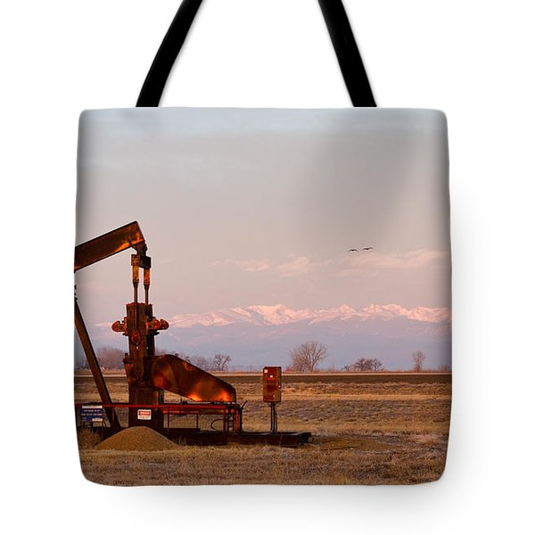 Colorado Oil Well Panorama Tote Bag by James BO  Insogna