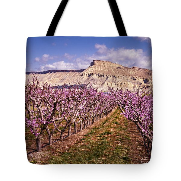 Colorado Orchards In Bloom Tote Bag