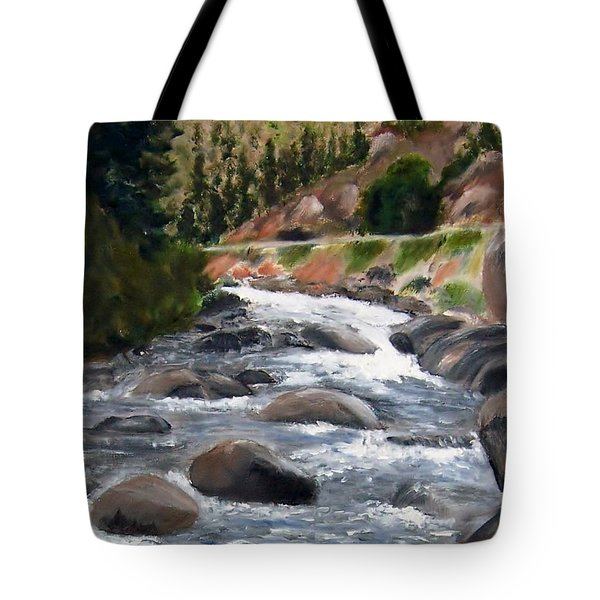 Tote Bag featuring the painting Colorado Rapids by Jamie Frier