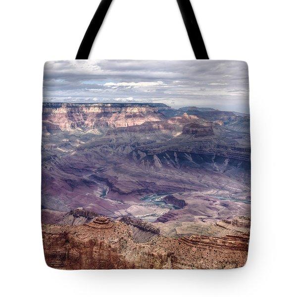 Colorado River At Grand Canyon Tote Bag by Wanda Krack