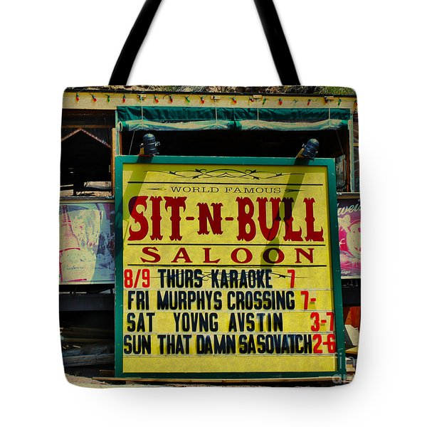 Colorado Sit-n-bull Saloon  Tote Bag by Janice Rae Pariza