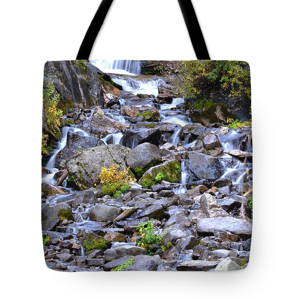 Colorado Waterfall Mountain Stream Tote Bag by Andrea Hazel Ihlefeld
