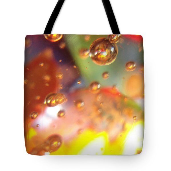 Colored Bubbles And Glass Tote Bag