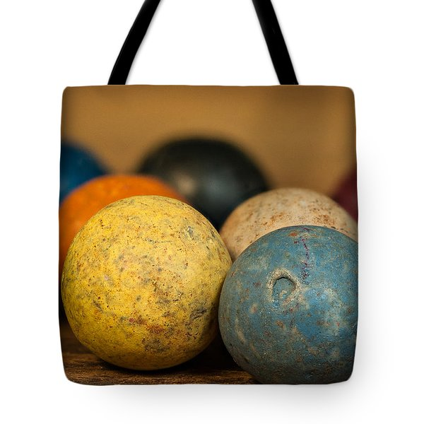 Colored Clay Marbles Tote Bag