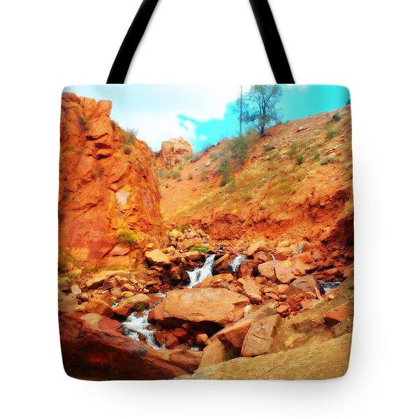 Colored Falls Tote Bag