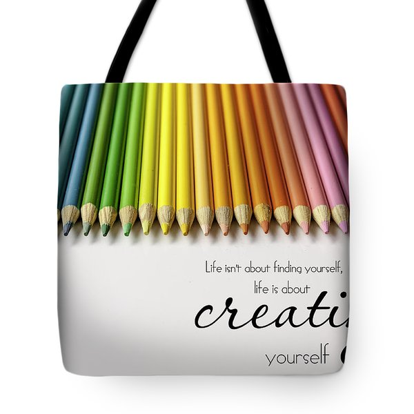 Colored Pencil Rainbow Tote Bag