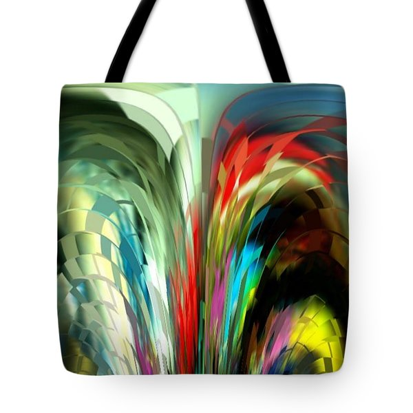 Colored Prisms Tote Bag by Julie Grace