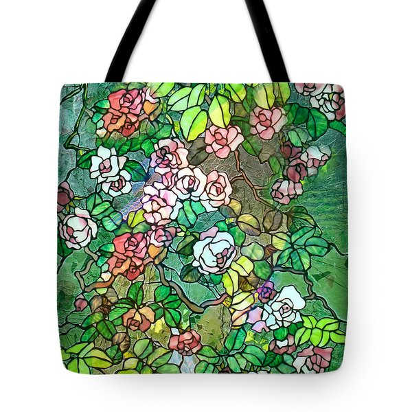 Colored Rose Garden Tote Bag