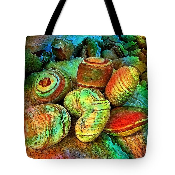 Colored Stones By Rafi Talby   Tote Bag by Rafi Talby