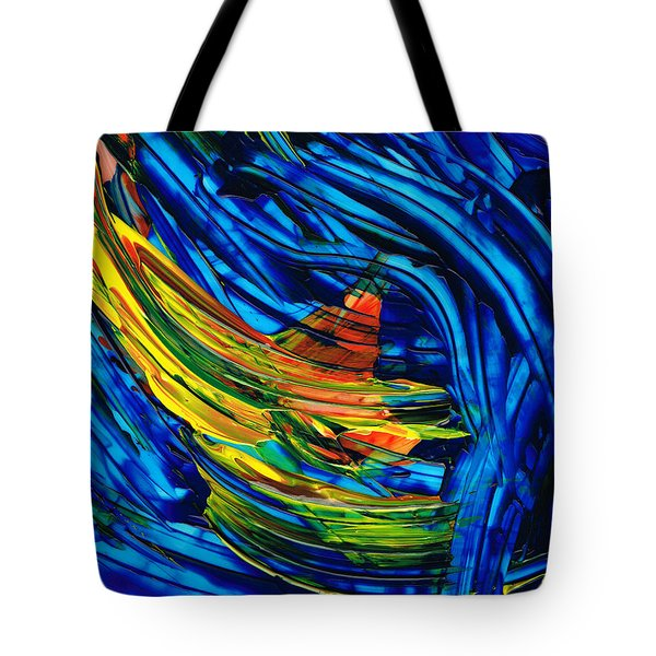 Colorful Abstract Art - Energy Flow 3 - By Sharon Cummings Tote Bag by Sharon Cummings