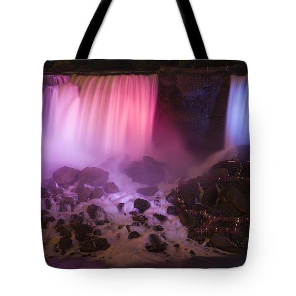 Colorful American Falls Tote Bag by Adam Romanowicz