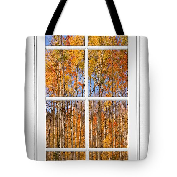 Colorful Aspen Tree View White Window Tote Bag by James BO  Insogna