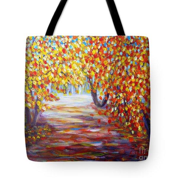 Colorful Autumn Tote Bag
